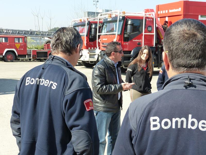 Colaboración con los bomberos