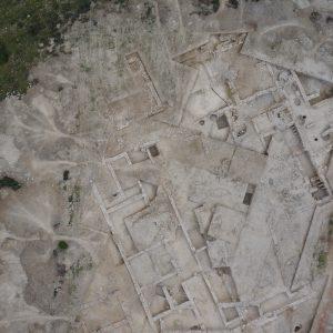 Fotografía aérea del yacimiento de Los Gallardos