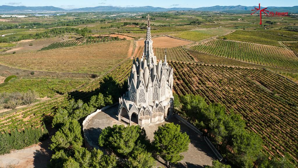 Ermita de Montferri fotografía aérea