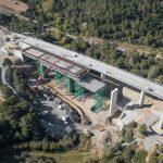 fotografía aérea de las obras del túnel del coll de l'illa